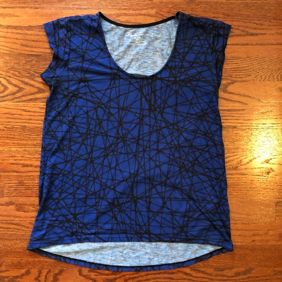 Kenneth Cole Tops - Kenneth Cole Women's Blue Short Sleeve Top